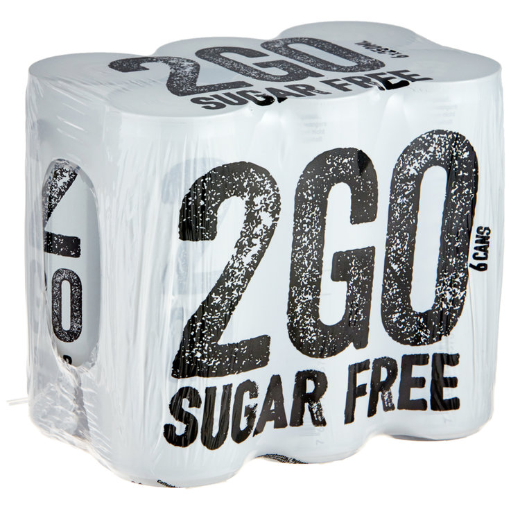 Energydrinks - 2 go Energy Drink Sugarfree 6x25cl