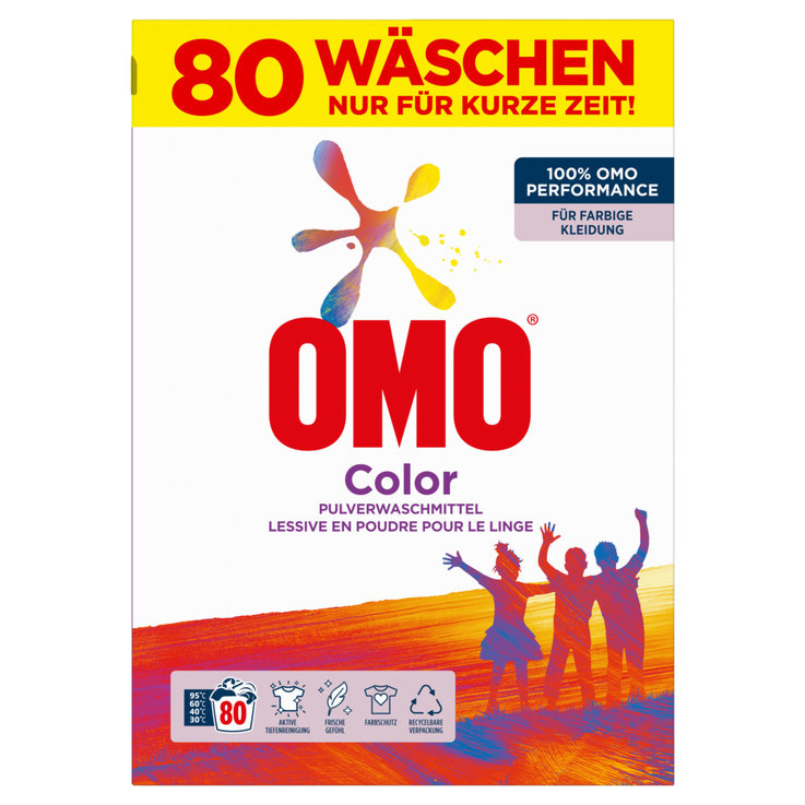 Colour - Omo Color Powder Laundry Detergent 80 Loads