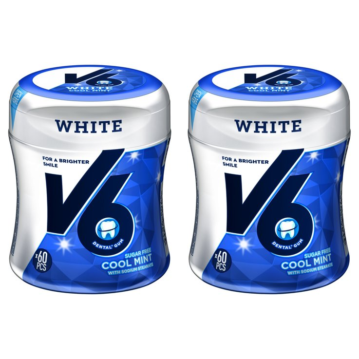 Chewing-gums - V6 Chewing-gum White Cool Mint 2x87g