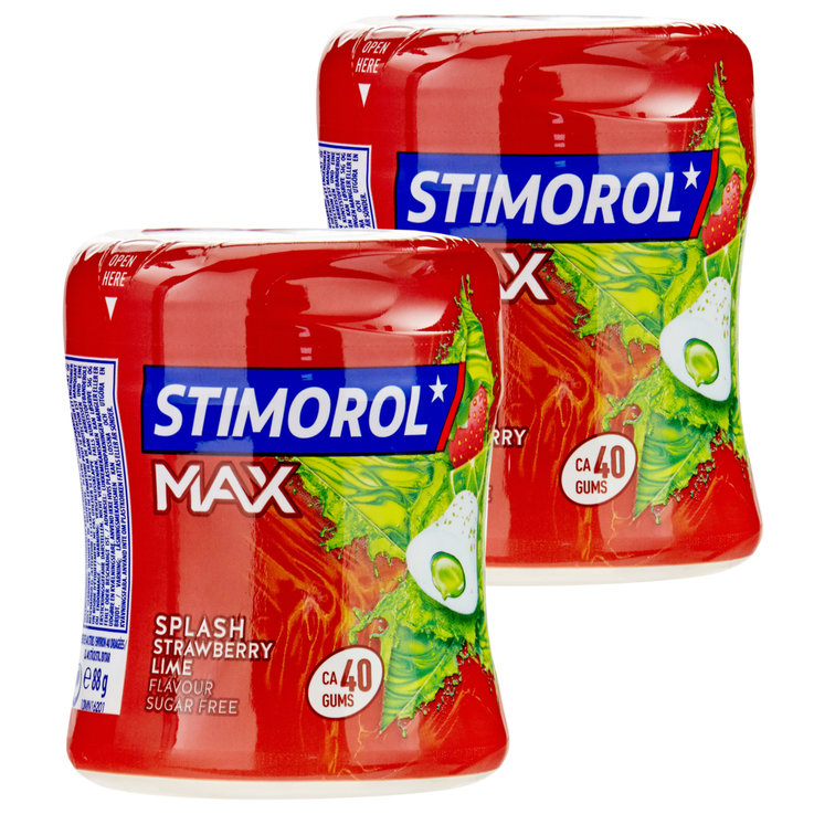 Chewing-gums - Stimorol Chewing-gum Max Splash Strawberry Lime 2x88g