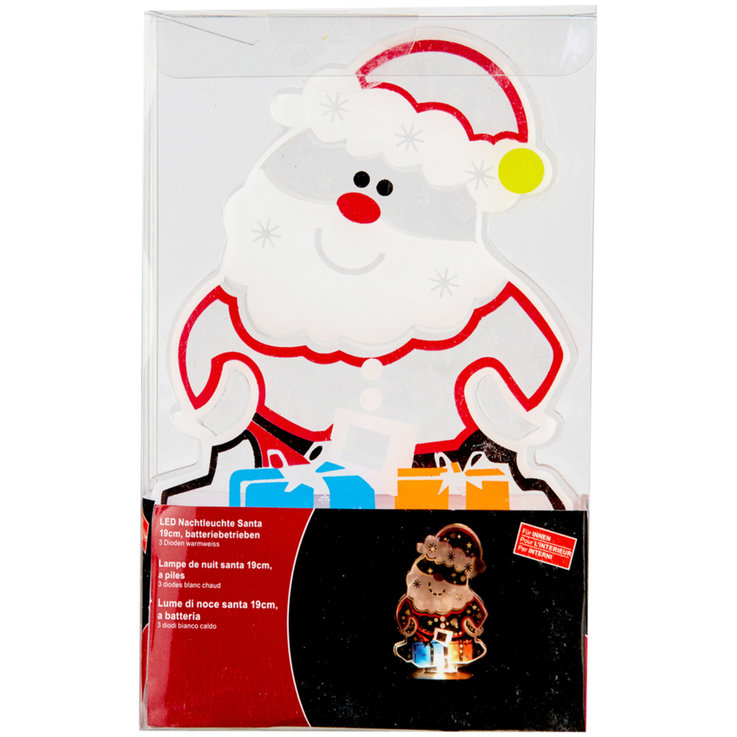 Christmas - LED Santa Night Light 19 cm