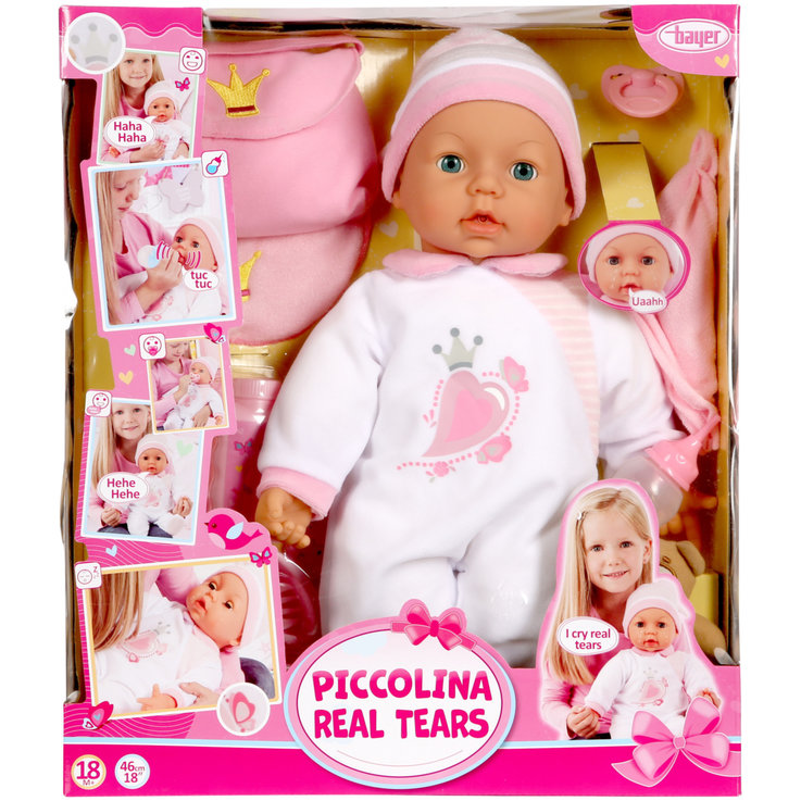 Dolls & Cuddly toys - Piccolina Doll with Real Tears 18 Months+