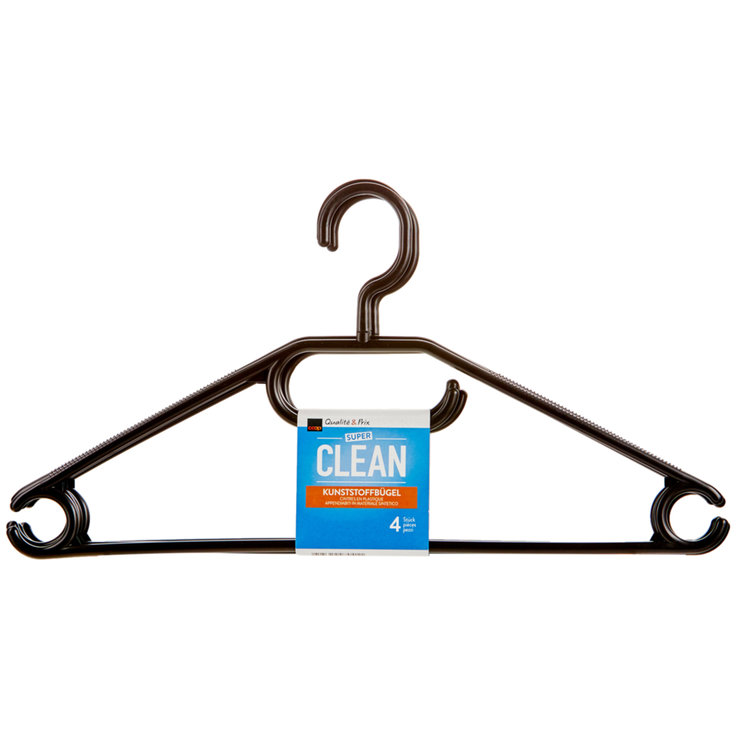 Ironing Accessories - Super Clean Plastic Hangers 4 Pieces