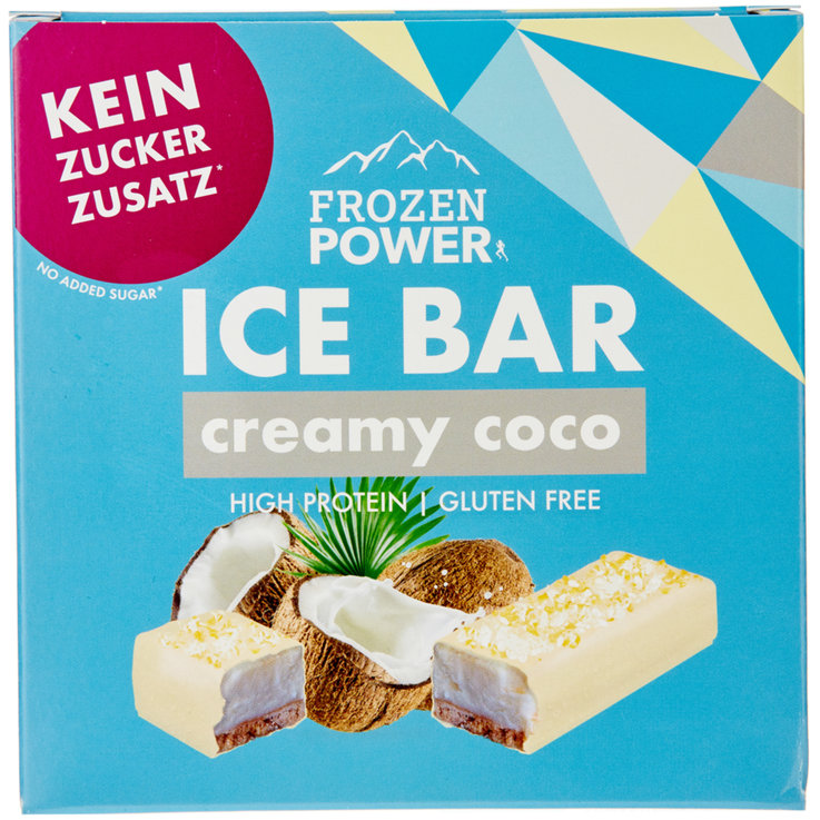 Rahmglace - Frozen Power Ice Bar Glace Kokos & Cookie 3 Stück