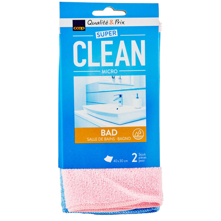 Bathroom Cleaner - Super Clean Microfibre Towel 2-pack