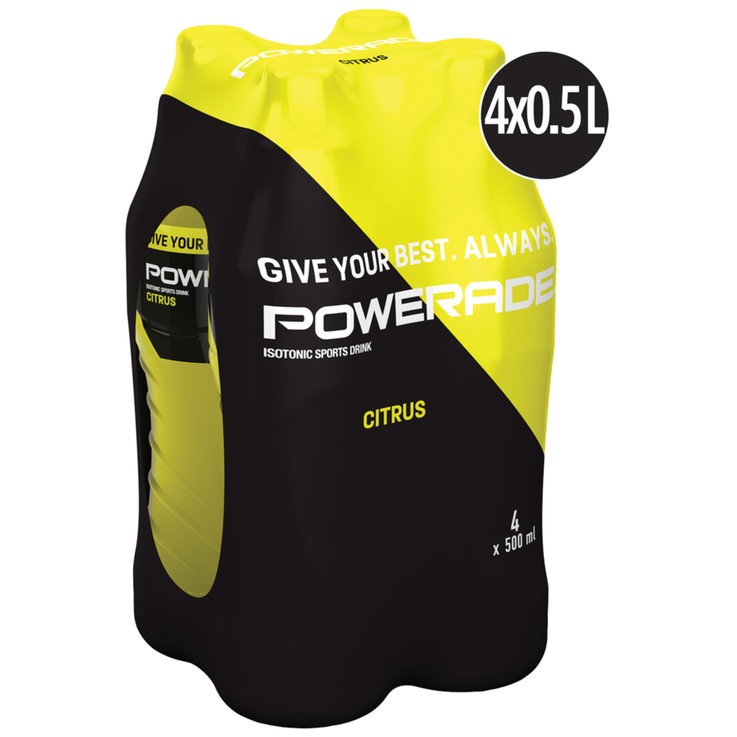 Boissons sportives - Powerade Citro 4x50cl