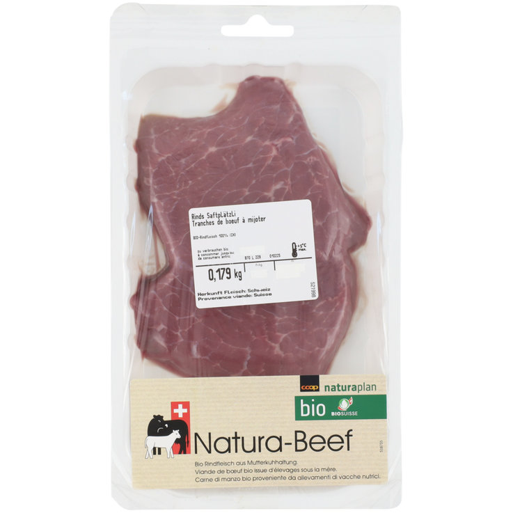 Beef - Naturaplan Organic Beef Fillets 2-3 Pieces 200g