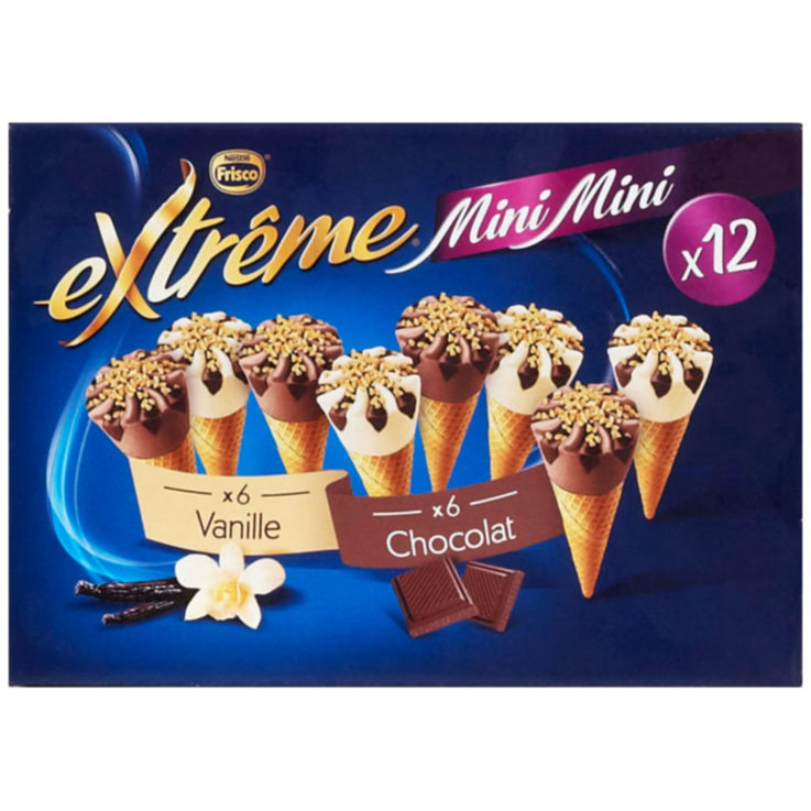 Ice Cream Cones - Frisco Extrême Mini Ice Cream Cones 12 Pieces