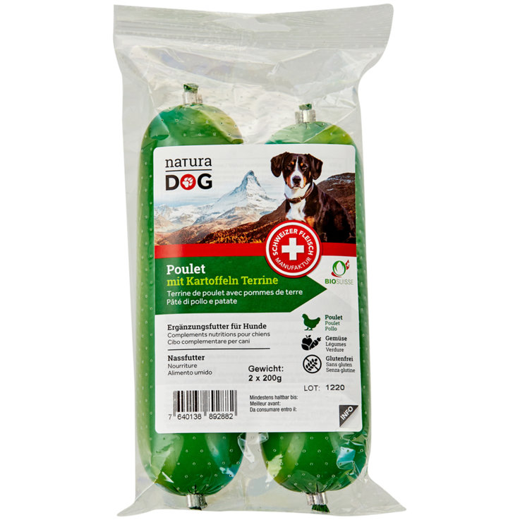 Wet Food - naturaDOG Organic Chicken with Potatoes 2 x 200 g