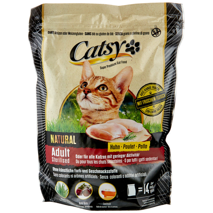 Dry Food - Catsy Adult Steril Dry Chicken Flavoured Cat Food