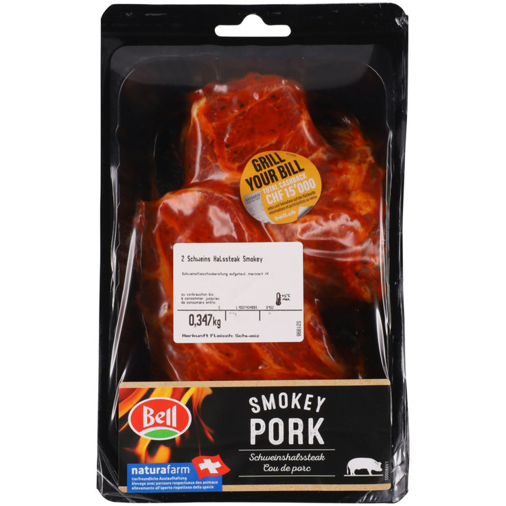 Pork - Bell Smokey Pork Neck Steaks ca. 380g