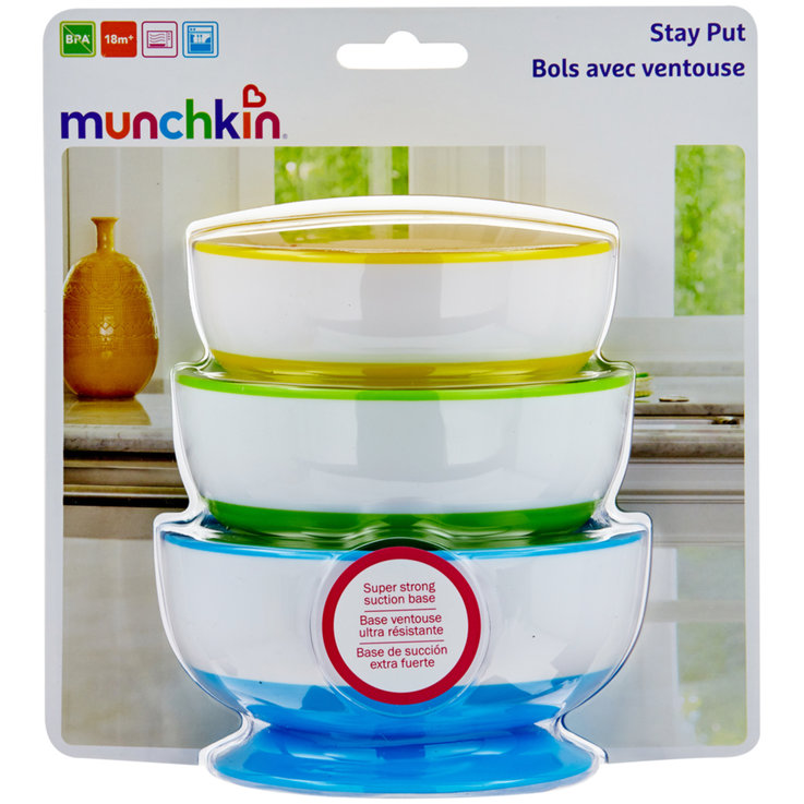 Dishes - Munchkin Stay-Put Suction Cup Plates 18 Months+ 3 Pieces