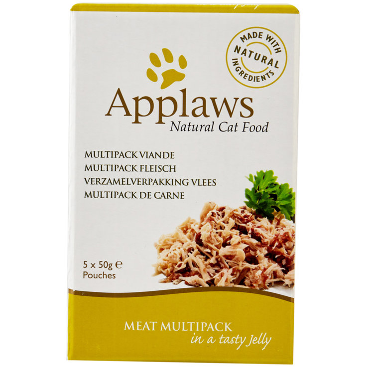 Nassfutter - Applaws Pouches Huhn in Gelee 5x50g  .