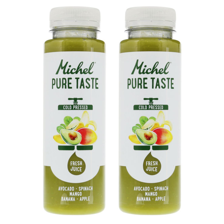 Vegetable Juice - Michel Pure Taste Avocado Spinach Mango Juice 2x  250ml