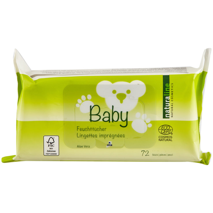 Wet Wipes - Naturaline Baby wet wipes, 72 wipes