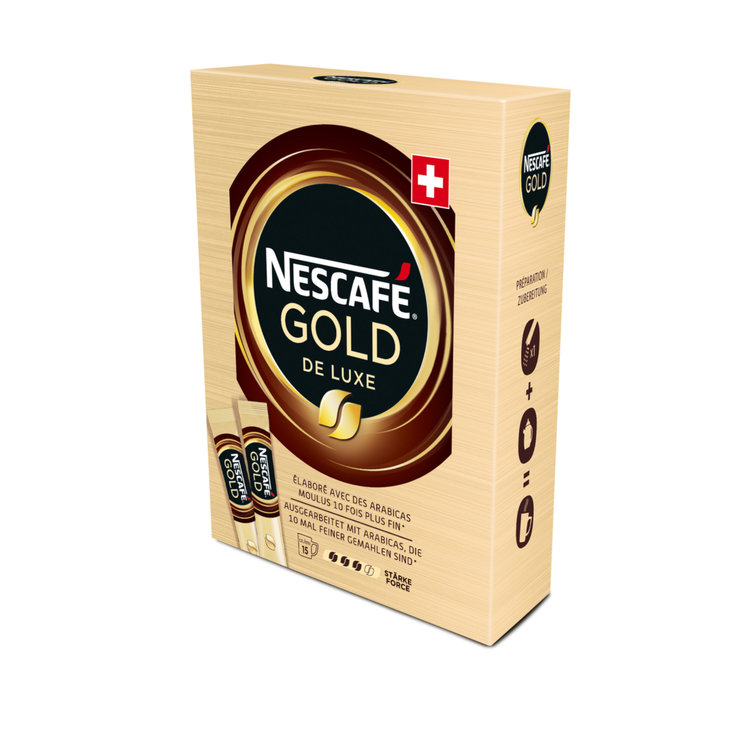 Instant Coffee - Nescafé Gold de Luxe Instant Coffee Single-Serving Packages