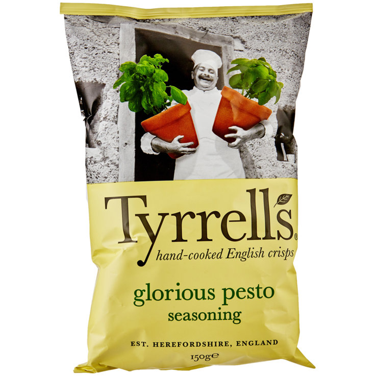 Chips speciales - Tyrrells Chips Glorious Pesto