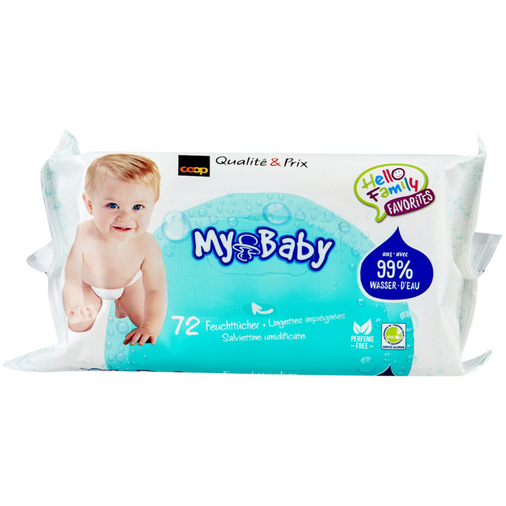 Salviette umidificate - Salviettine umidificate Water Wipes My Baby, 72 pz.