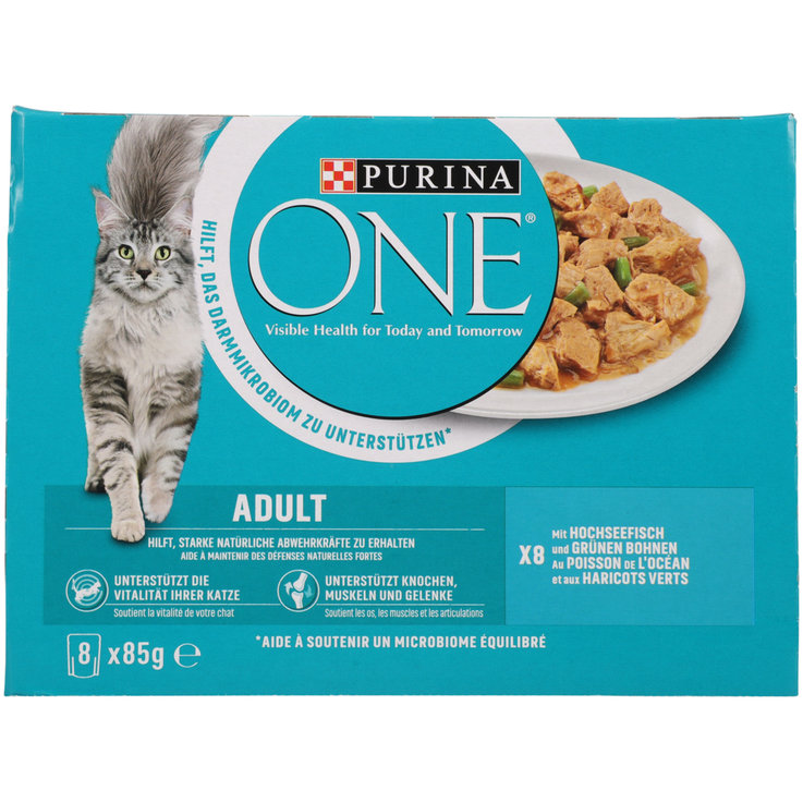 Wet Food - One Ocean Fish Flavoured Adult Cat Food in Sauce 8x85g