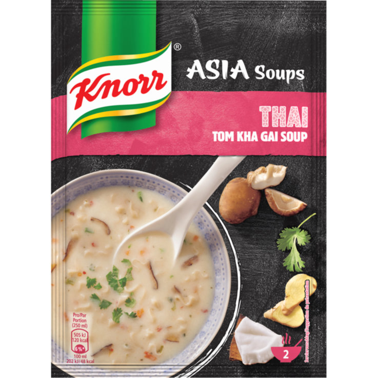 Vegetable & Mushroom Soups - Knorr Thai Tom Kha Gai Soup Mix