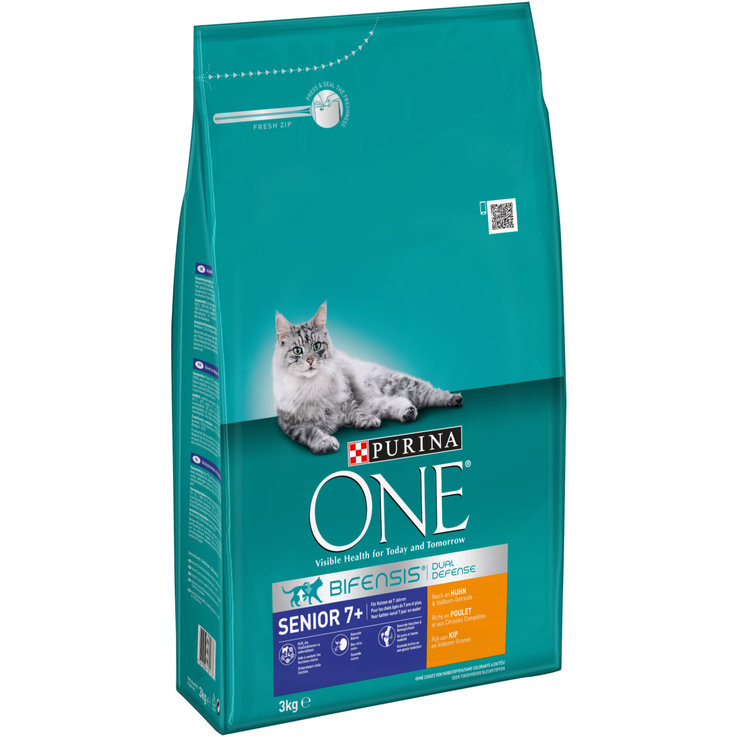 Dry Food - One Chicken & Whole Grain Cereal Dry Senior Cat Food