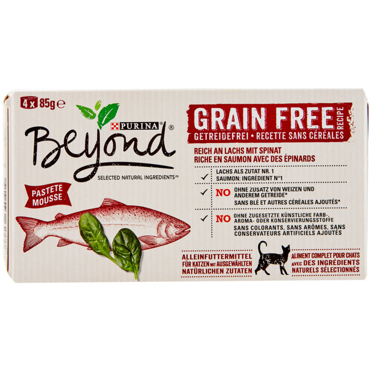 Wet Food - Beyond Salmon Flavoured Cat Food without Cereal 4x85g