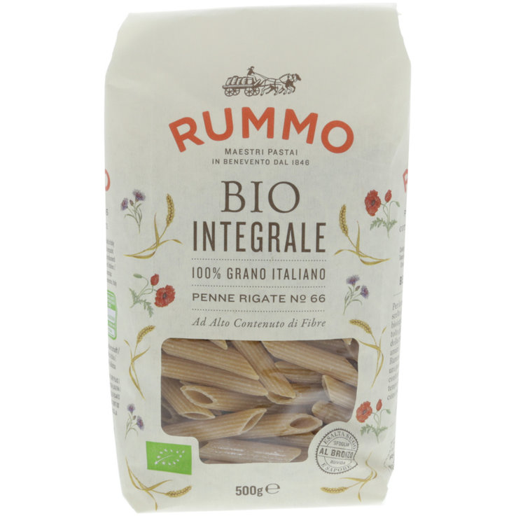 Penne & Hollow Pasta - Rummo Organic Penne Rigate Pasta no. 66