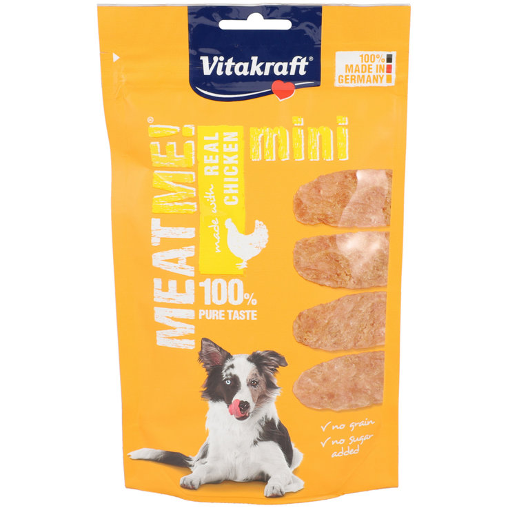 Snacks and Treats - Vitakraft Meat Me Mini Chicken Flavoured Dog Snacks