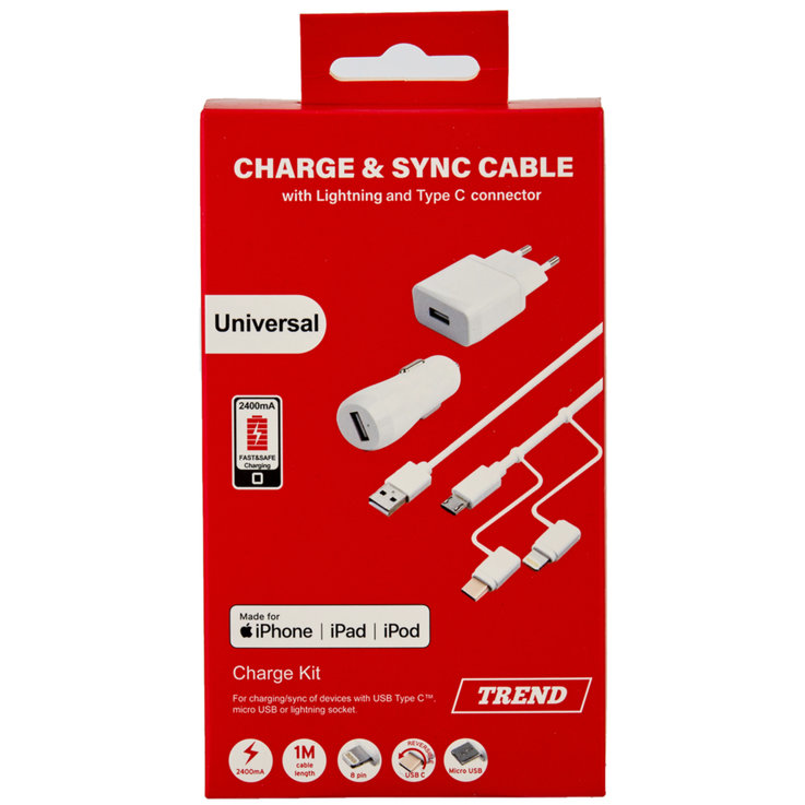 Household Appliances & Wires - Trend 5 in 1Charger Kit