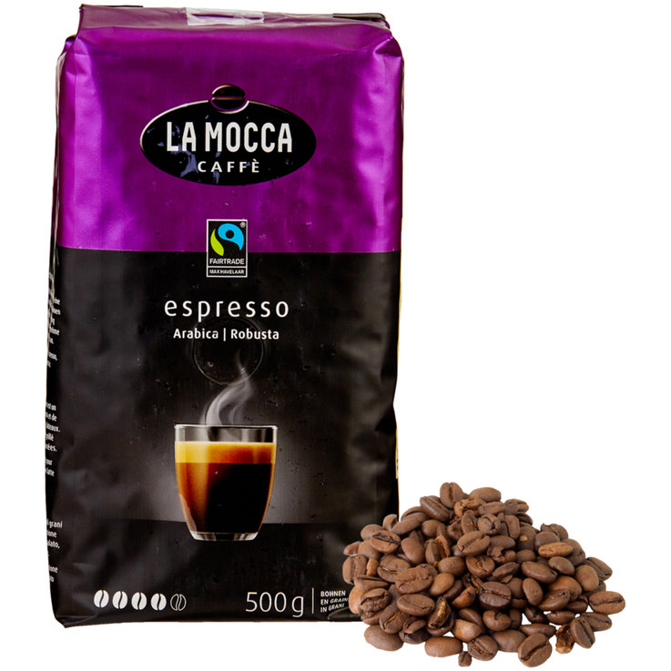 Café en grains - La Mocca Fairtrade Grains de café Espresso