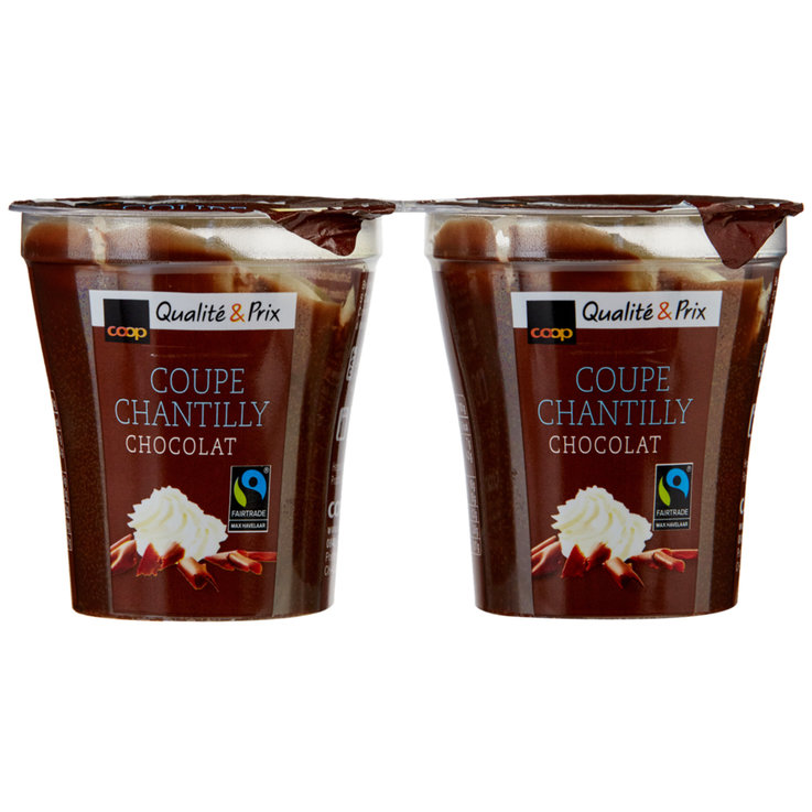 Spezielle Desserts - Fairtrade Coupe Chantilly Choco 2x125g
