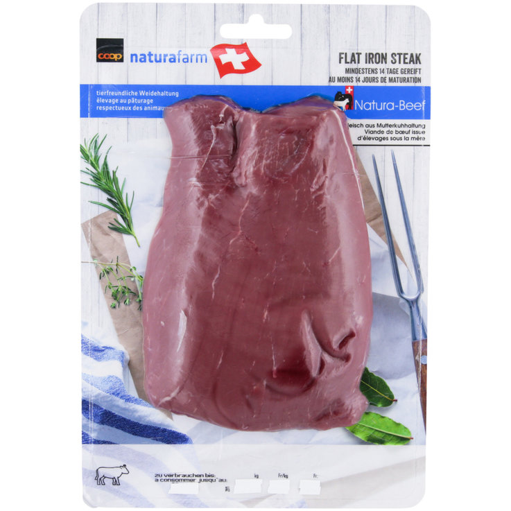 Beef - Natura Beef Flat Iron Steak ca. 400g