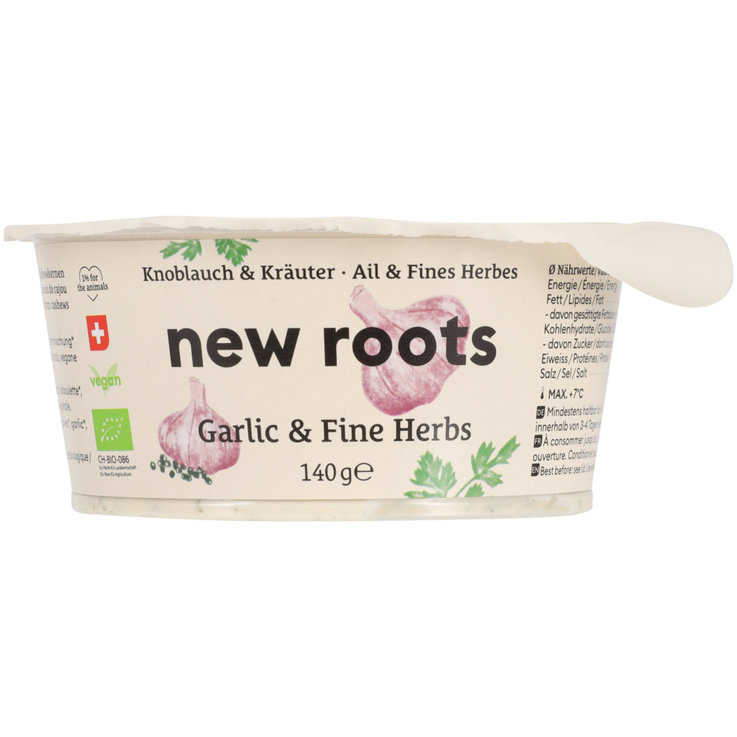 Milk, yogurt & cheese substitute - New Roots Garlic & Herbs Spread