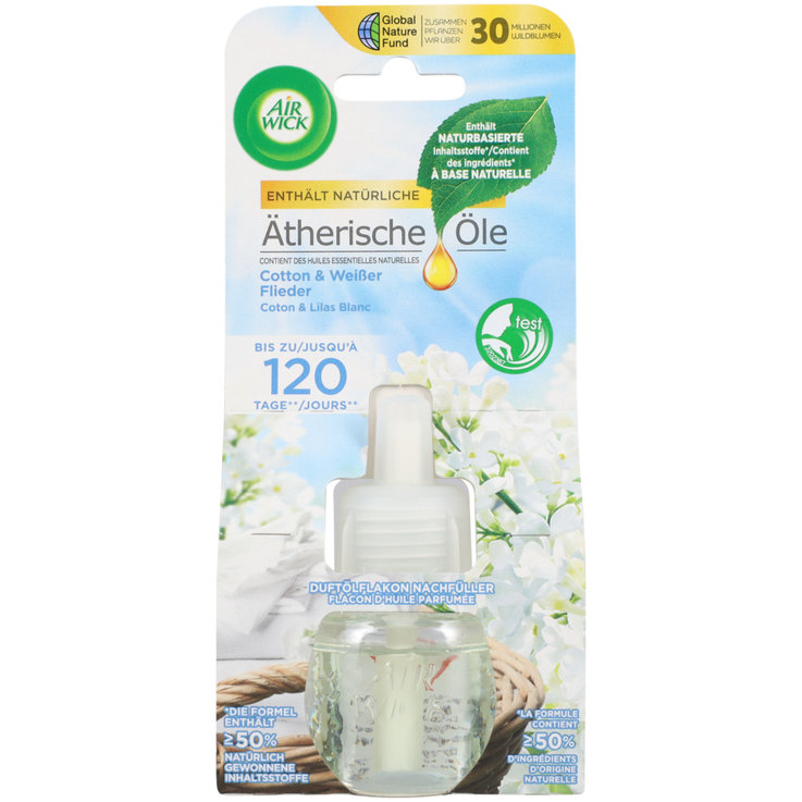 Automatic Air Fresheners - Airwick Cotton Deodorizer Plug Refill