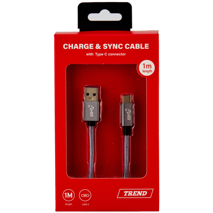 Household Appliances & Wires - Trend USB-C Charging Cable 1m