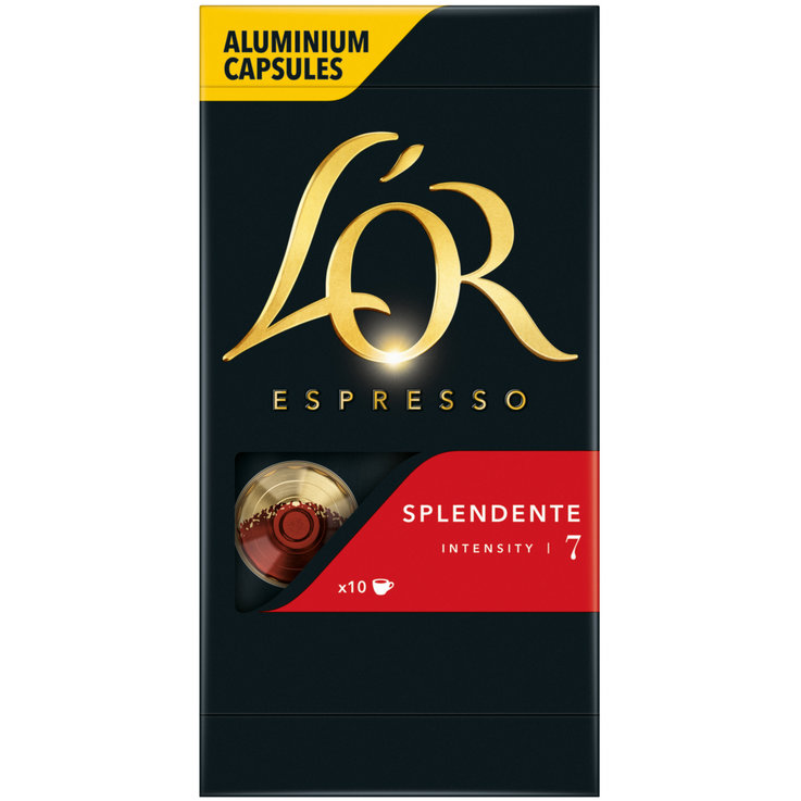 Compatible with Nespresso - L'Or Nespresso Splendente 7 Espresso Coffee 10 Capsules