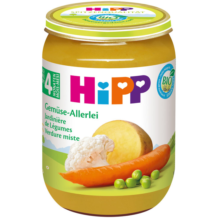 Vegetable Baby Food - Hipp Organic Assorted Vegetable Puree 4 Months+