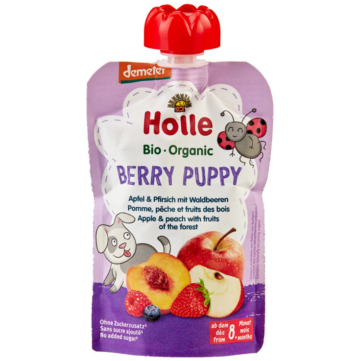 Smoothies - Holle Naturaplan Demeter Organic Berry Puppy Pouch 8 Months+