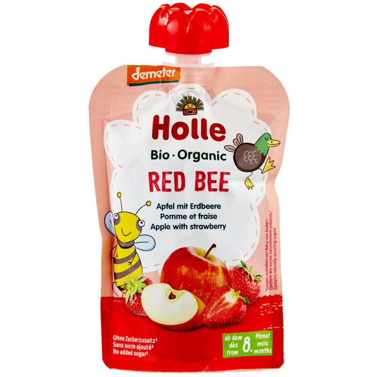 Smoothies - Holle Red Bee Compote Pouch 8 Months+