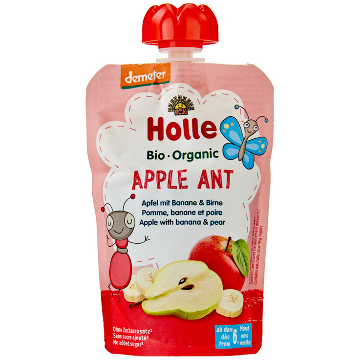 Smoothies - Holle Apple Ant Compote Pouch 6 Months+