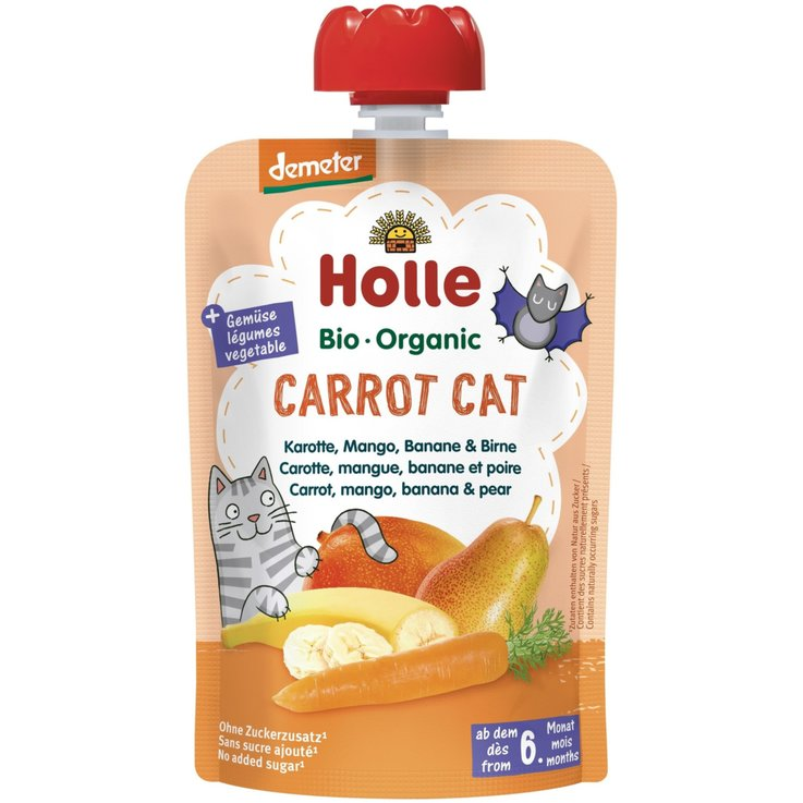 Smoothies - Holle Carrot Cat Compote Pouch 6+ Monate