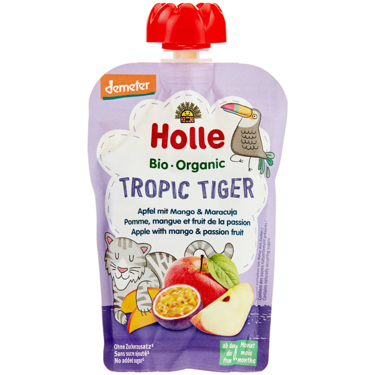 Smoothie - Holle demeter Tropic Tiger squeezable, 8m+