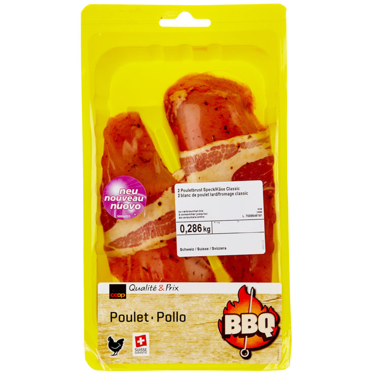 Poultry - Chicken Breast with Bacon & Cheese ca. 300g