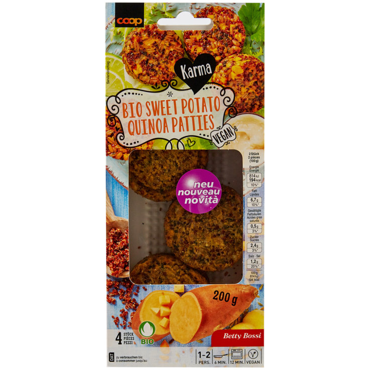 Surrogati della carne - Karma Bio Sweetpotatoe Quinoa Patties