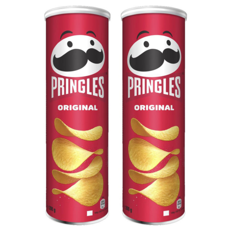 Plain Crisps - Pringles Original Chips 2x  200g