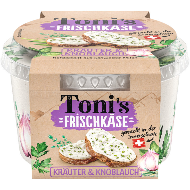 Cream Cheese & Fresh Spread - Toni's Herb & Garlic Cheese Spread