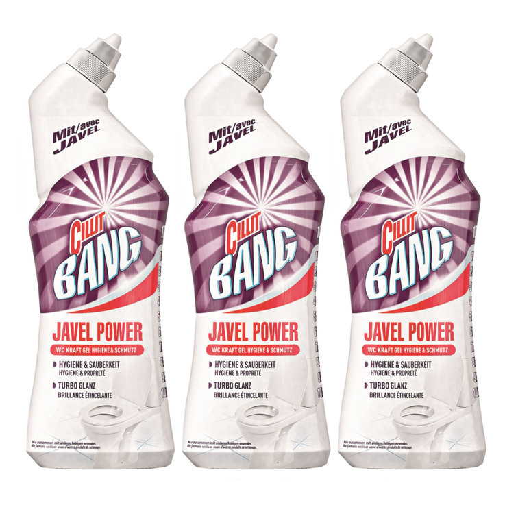 Detergente per WC - Detergente per WC Javel Power Cillit Bang 3x  750ml