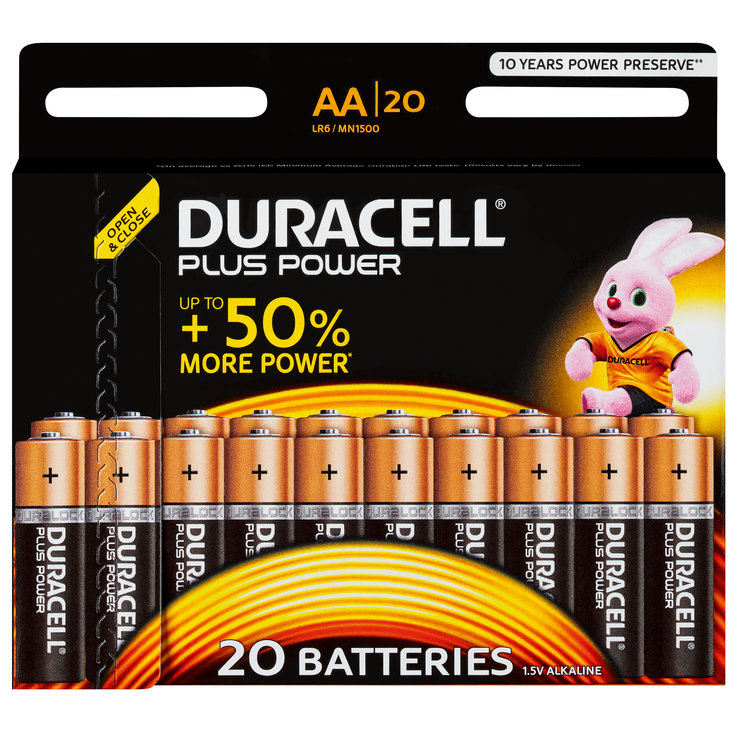 AA - Duracell Plus Power AA/LR6 20 Pieces