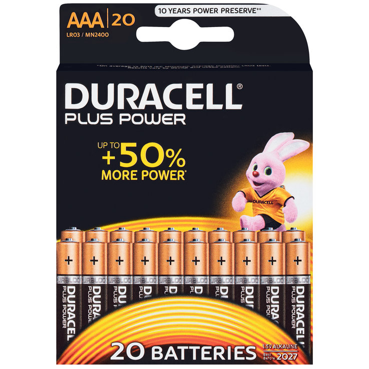 AAA - Duracell Plus Power AAA/LR03 20PZ