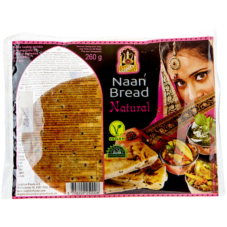 Pane a lunga conservazione - INDIAN DELIGHT Plain Naan Bread